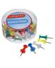 Кнопки силовые цветные 40 шт. в пласт. коробке CALLIGRATA 1293694