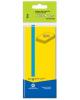 Бумага клейкая для заметок 50*40мм 3шт.х100л. желтый(пластиковый пакет с европодвесом) атр 682011-01