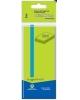 Бумага клейкая для заметок 50*40мм 3шт.х100л.зеленый (пластиковый пакет ) атр 682011-02