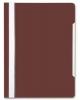 Скоросшив-ль А4 коричневый, прозр.верхн. лист БЮРОКРАТ 1/20  PS20BROWN