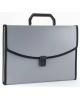 Папка портфель 13 отд пластик серый А4 с окантовкой 0,7мм BPP13Lgrey