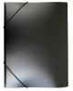 Папка на резинке А4 корешок 15мм пластик 0,4мм (черная)  PR04blck