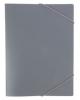 Папка на резинке А4 корешок 15 мм пластик 0,4 мм (серая)  PR04grey