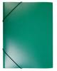Папка на резинке А4 корешок 15 мм пластик 0,4 мм (зеленая)  PR04grn