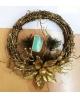 Венок белый новогоднее украшение 058-1105-3