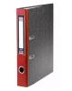 Папка регистратор 70мм с арочным механизмом А4 Мраморная Красная  Хатбер 5ПР_00315