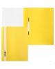 Папка-Скоросшиватель А4 Хатбер 140/180мкм Желтая пластик. с перфорацией AS4_00205