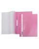 Папка-Скоросшиватель А4 Хатбер 140/180мкм розовая пластик. с перфорацией AS4_00212
