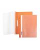 Папка-Скоросшиватель А4 Хатбер 140/180 мкм Оранжевая пластик. с перфорацией AS4_00216