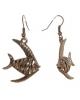 Серьги металл Art рыбы цвет медный 1041728