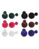 Серьги пластик Dr бархатные цвет микс 1098100
