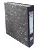 Регистратор картонный 355001-01 50мм мраморный с мет.окант BASIC