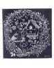 Гравюра 'Птичка' с металлическим эффектом серебро + штихель 1906703