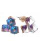 Серьги со стразами 'Куб' тройной цвет Микс 1508953