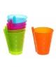 Набор стаканов пластиковых 6шт  250мл с трубочкой М-13  Селфи