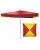 Зонт пляжный 2,5м*2,5м (665) квадрат