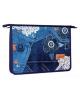 Папка шк. А4 д/тетрадей пластиковая на молнии Хатбер 'Style' Амс 42062