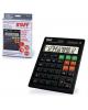 Калькулятор STAFF настольный STF 555 BLACK 12разр.CORREKT  двойн питание 205*154мм  250304