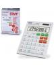 Калькулятор STAFF настольный STF 555 WHITE 12 разр.CORREKT белый  двойн питание 205*154мм  250305
