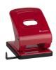 Дырокол 40л красный с линейкой  Mettallic PN0151-RD