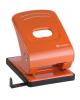 Дырокол 40л оранжевый с линейкой  Mettallic Lamark PN0151-OR