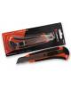 Нож канц  9мм (2 зап лезв) Lamark CK 0200