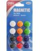 Магнит для досок Deli Е7823 ассорти d=15мм круглый