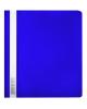 Скоросшиватель А5 Бюрократ Люкс PSL20A5BLUE прозр. верх пластик синий