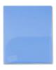 Папка-угол А4 пластик 0,18мм 2 вн.кармана Бюрократ синий E570blu