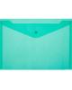 Папка-конверт А5 на кнопке зеленая РК804А5grn Бюрокр