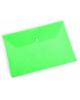 Конверт на кнопке А4 'Листочки' зеленый  PK810grn  0-18мм