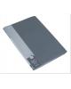 Папка 20 ф пластик 0,6мм торц. карман серая BVP20grey