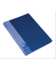 Папка 40 файлов синяя 0,65мм пластик BPV40blue