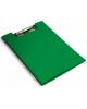 Папка клип-борд Бюрократ А4 пластик 1,2мм зеленый  PD602grn