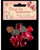 Декор для творчества пластик 'Стразы сердце. Ярко-розовый' набор 20 шт 226872019