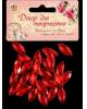 Декор для творчества пластик 'Стразы листок. Красный' набор 25 шт 2268723