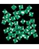 Декор для творчества пластик 'Стразы квадрат. Ярко-зеленые' набор 40шт 2268759