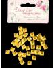 Декор для творчества пластик 'Стразы квадрат. Ярко-желтые' набор 36 шт 2268764