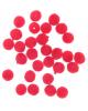 Набор бусин для творчества бархотное напыление 'Красные' набор 30шт 0,8*0,8см   2513812
