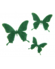 Набор декоративных элементов из фетра на клеевой основе 'Бабочки №1' 3 шт зеленый 2518063