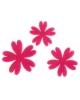 Набор декорированных элементов из фетра на клеевой основе 'Цветы № 1'3шт фуксия  25118074