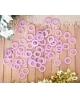 Бусы на елку 270 см фиолет круги 2155373