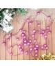 Бусы на елку 270 см фиолет шарик ниточки 2155374
