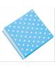 Салфетки 'Горох. Белый на голубом' 1/12шт. (Китай) 703011