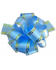 Бант 'Шар'50мм Классика с золотой полоской Голубой (Китай) 354028