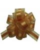 Бант 'Шар' 30мм Текстиль С золотой полоской 'Классика' Бронза (Китай)  354165