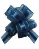 Бант 'Шар' 30мм Текстиль С золотой полоской 'Классика' Синий (Китай)  354196