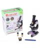 Микроскоп х450 (5 стекол, 2 баночки, бумага) 24*9*19 б/подсветки пластик,стекло,металл 539694