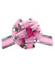 Бант 'Шар' №5 серебро Розовые сердца на розовом 848869