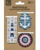 Закладки магнитные д/книг (3шт) 'Морской стиль'  45655